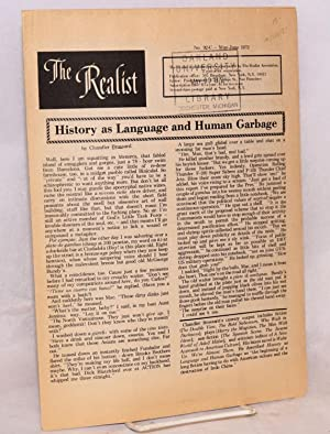 The realist [no.92-C] History as language and human garbage, by Chandler Brossard: Krassner, Paul, ...