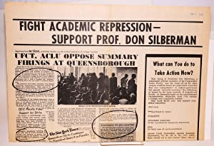 Fight academic repression - support Prof. Don Silberman [with] Don Silberman's firing - the ...