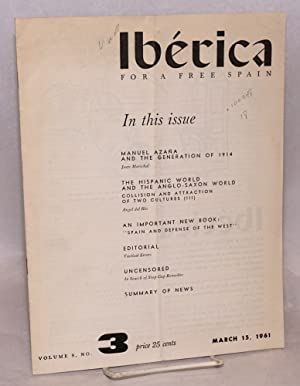 Ib?rica; for a free Spain, volume 9, no.3, March 15, 1961