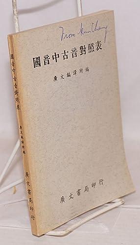 Guoyin zhong gu yin duizhao biao: Guangwen bianyisuo