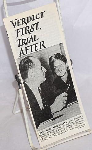 Verdict first, trial after: Abt, John J.