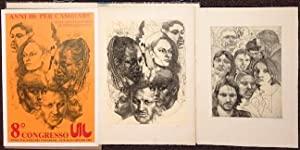 Two etchings and poster for 8th Congresso UIL