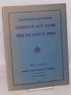 Souvenir Program Conference of Grand Masters of Prince Hall Masons of America May 17-21, 1953