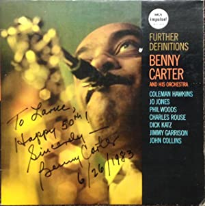 Further Definitions; Benny Carter and his orchestra, Coleman Hawkins, Jo Hones, Phil Woods, Charles...