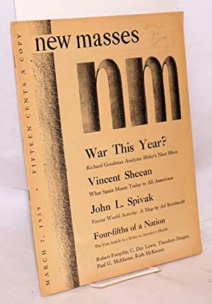 The war which is not yet ended; in New Masses March 7, 1939, vol. xxx, no. 11: Sheean, Vincent