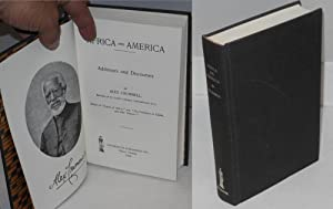 Africa and America; address and discourses: Crummell, Alex