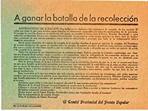 A ganar la batalla de la recolecci?n: Frente Popular. El Comit? Provincial de Albacete