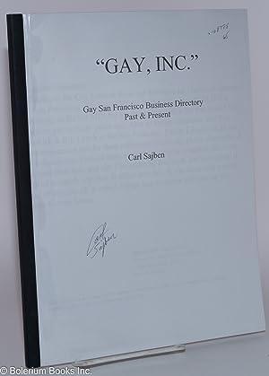 "Gay, inc."" Gay San Francisco business directory past & present: Sajben, Carl"