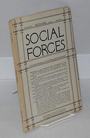 Social forces; volume 29, number 2, December, 1950