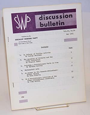 SWP discussion bulletin, vol. 22, no. 10 (May, 1961): Socialist Workers Party