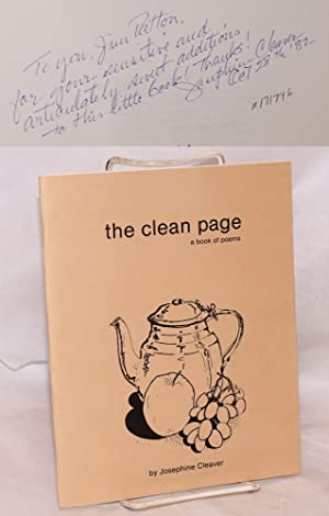 The clean page; a book of poems
