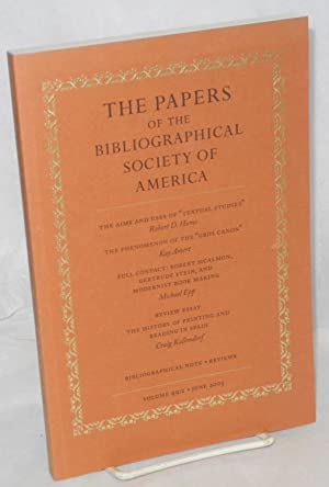 The papers of the bibliographical society of: Stein, Gertrude] Michael
