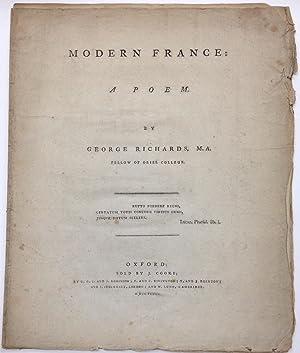 Modern France: a poem: Richards, George