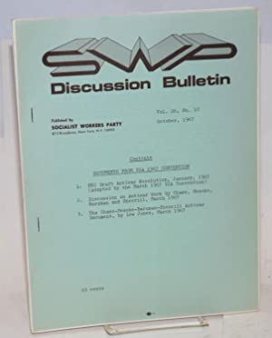 SWP discussion bulletin, vol. 26, No. 10 (October, 1967): Socialist Workers Party