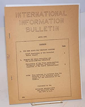 International information bulletin. (April, 1961): Socialist Workers Party