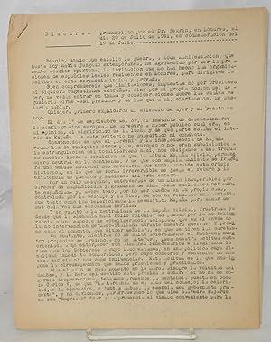 Discurso por el Dr. Negr?n, en Londres, el dia 20 de Julio de 1941, en conmemoracion del 19 de ...