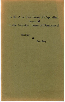 Is the American form of capitalism essential to the American form of democracy? Debate between ...