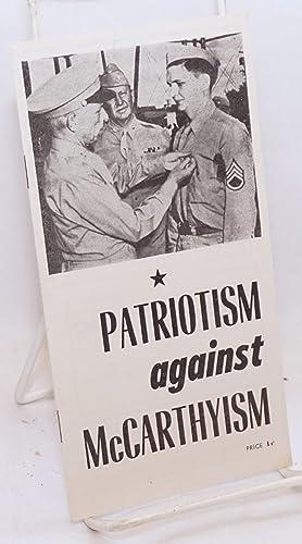 Patriotism against McCarthyism [cover title]: Thompson, Robert
