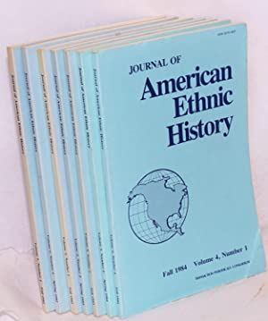 Journal of American ethnic history; volume 1, number 1 - volume 4, number 1