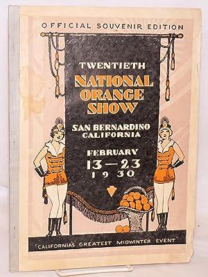 "Twentieth National Orange Show ""California's Greatest Mid-Winter Event"" official ..."