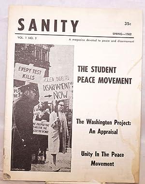 Sanity, a magazine devoted to peace and disarmament. Vol. 1, no. 2, Spring - 1962: Bluestone, ...