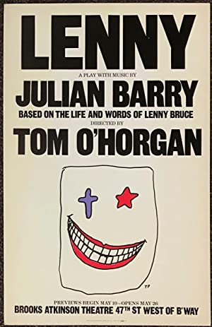 Lenny: a play with music by Julian Barry (original poster)