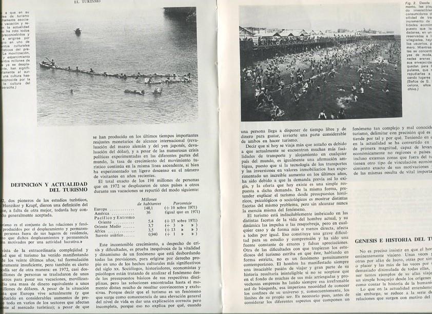 El turismo (articulo de 23 paginas con fotos color y b/n) de Jose ...
