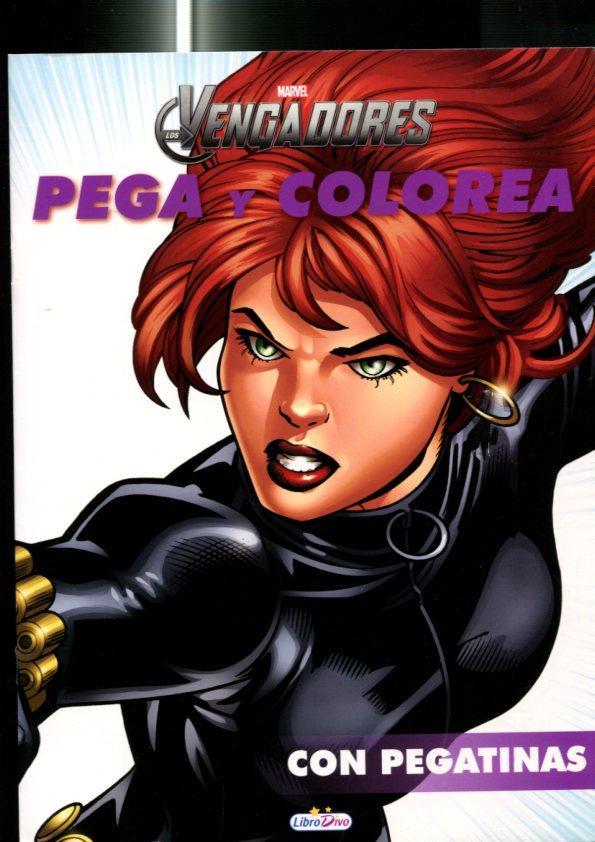 LIbro Divo: Marvel: Los Vengadores: Pega y colorea, cuaderno de ...