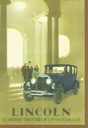 CALENDARIO PUBLICITARIO 00232: Lincoln. Coches de lujo: Varios