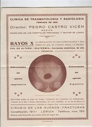 Folleto propaganda Clinica de Traumatologia y Radiologia,: Varios