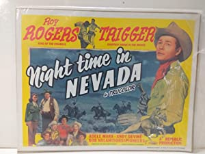 Poster Cine: ROY ROGERS - NIGHT TIME IN NEVADA (1996)