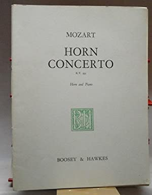 Notenheft : Horn Concerto in E flat, K.V. 495 : For Horn in F and Piano arranged by W. Salomon ;.