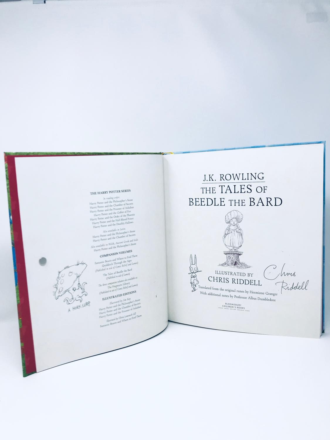 SIGNED DOODLED The Tales of Beedle the Bard