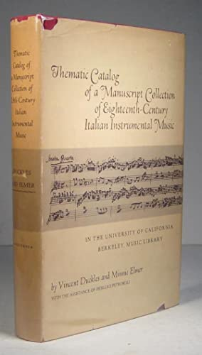 Thematic Catalog of a Manuscript Collection of Eighteenth-Century Italian Instrumental Music in t...