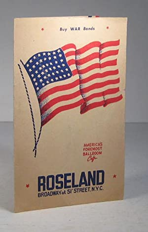 Roseland. Broadway at 51' Street. NYC. America's Foremost Ballroom Cafe (Menu)