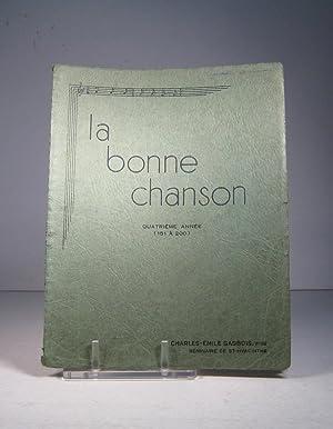 La Bonne Chanson. Quatrième album. 151 à: La Bonne Chanson