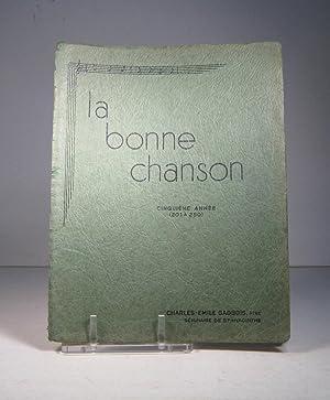 La Bonne Chanson. Cinquième année. 201 à: La Bonne Chanson