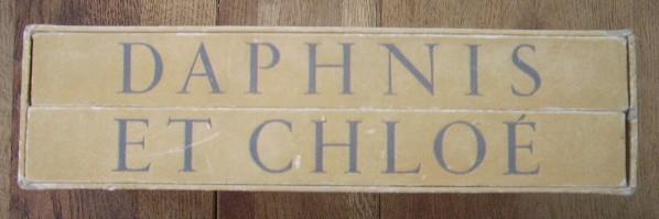 Daphnis et Chloé, illutrations de Louis Touchagues, 2 vol. LONGUS in-8 117 + 110 pages sous double emboîtage, exemplaires sur Lana, bel état, frottements amboîtage