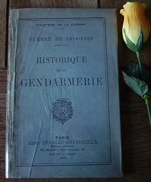 Historique de la gendarmerie, guerre 1914-1918: COLLECTIF