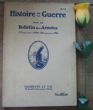 Histoire de la guerre par les bulletins: BOUTROUX Emile, GERVAIS