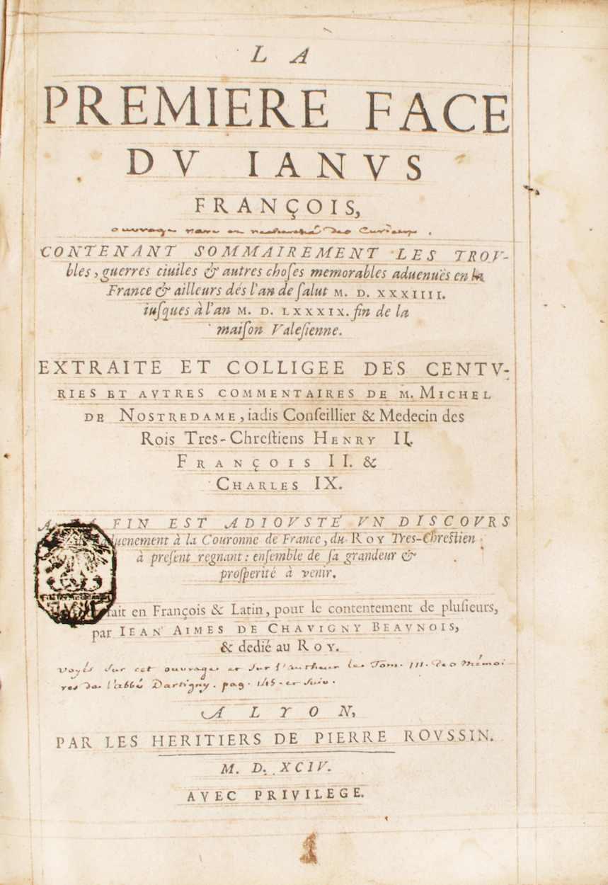 La Première face du Janus François, contenant sommairement le troubles, guerres ...