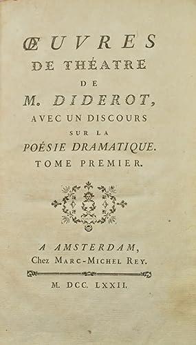 Oeuvres de Théâtre, avec un Discours sur: DIDEROT (Denis).