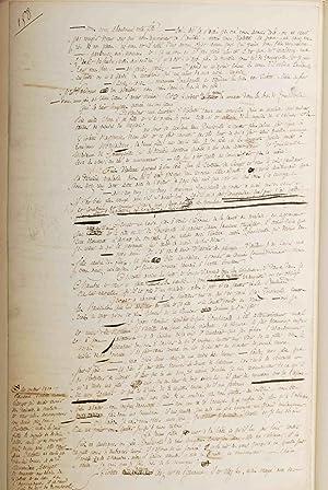 La Bouquetière du Château d'eau. Manuscrit autographe.: KOCK (Charles-Paul);