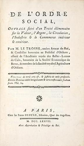 De l'Ordre social, ouvrage suivi d'un traité élémentaire sur la ...