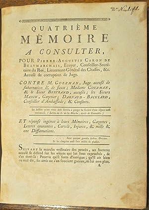 Mémoire à consulter, Pour Pierre-Augustin Caron de Beaumarchais, Ecuyer, ...