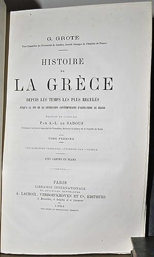 Histoire de la Grèce, depuis les temps les plus reculés jusqu'à la fin de...
