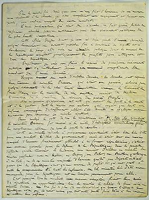 Affaire Dreyfus]. Discours autographe du député républicain socialiste du Cher...