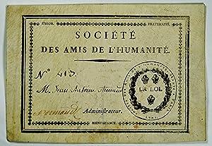 Société des Amis de l'Humanité. N°413. M. Jean Antoine Arnaud. ...