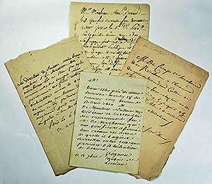 Mirabeau]. Archives Cottier, créancier de feu le comte Mirabeau.