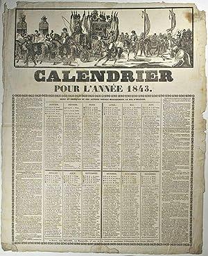 Calendrier pour l'année 1843.
